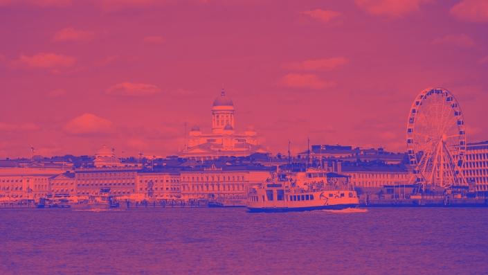 Helsinki silhouette gradient