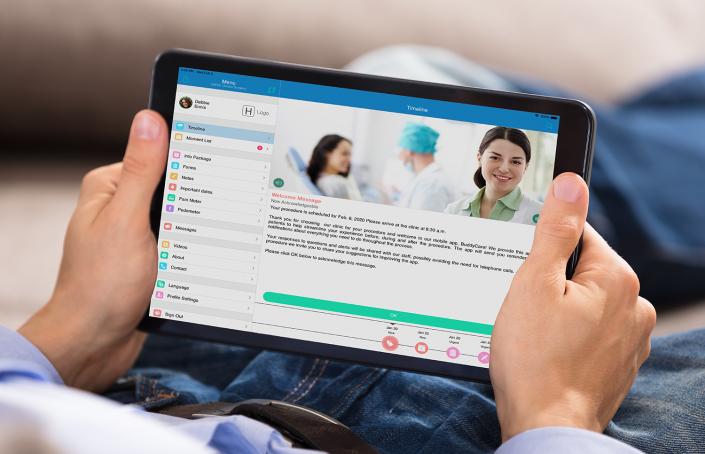 Patient-looking-Buddy-Healthcare-app
