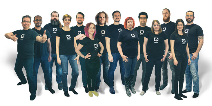 Ninchat employees in group photo