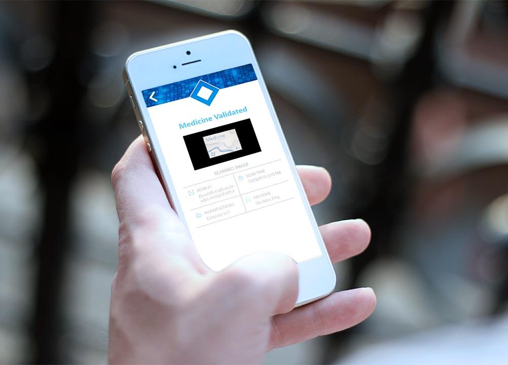 TrueMed app cell phone