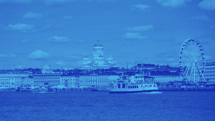 Helsinki skyline gradient