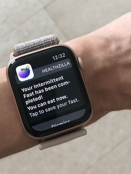 Watch with notification from Healthzilla