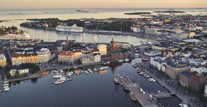 Helsinki from air