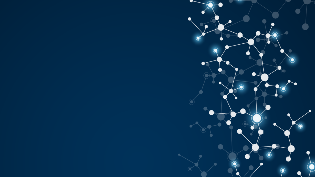 Blue background with white star-like dots