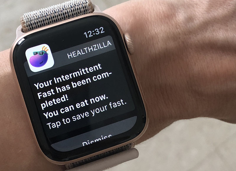 Smart watch with a health notification
