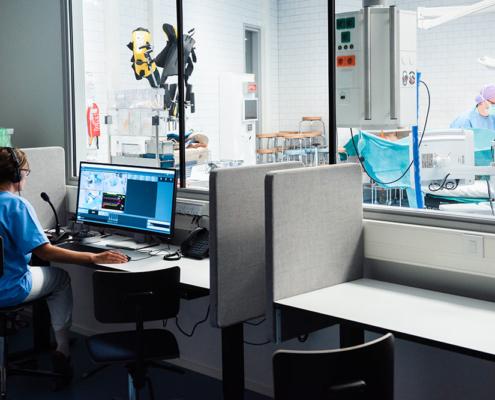 Simulation hospital environment