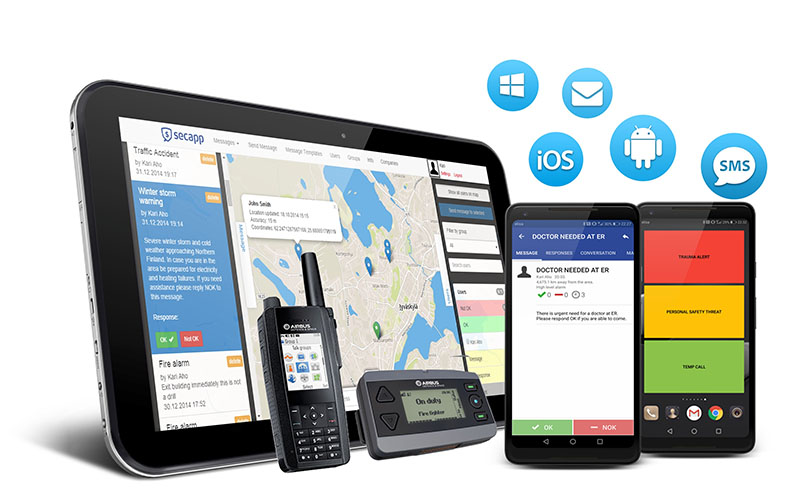 Secapp solution: tablet, mobile phone and other devices