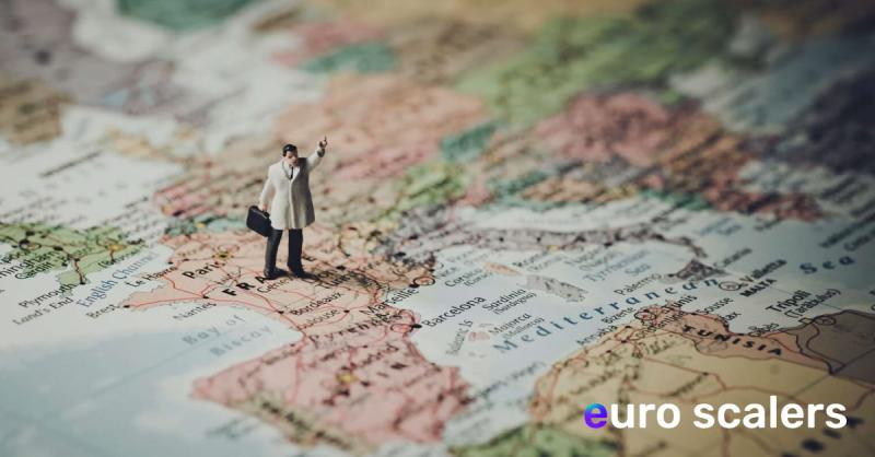 Small doll standing on world map
