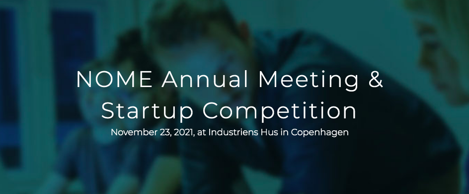 NOME Startup Competition event banner